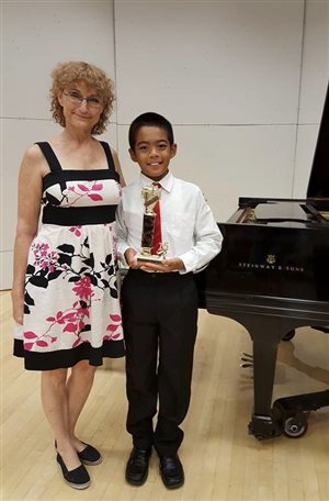 1st place Trophy International Piano Competition